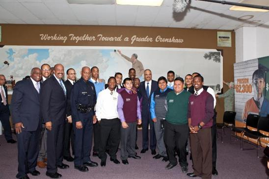 U.S. Attorney General Eric H. Holder Jr. Visits Brotherhood Crusade Youth
