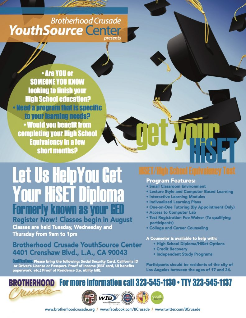 HiSet Recruitment Flyer