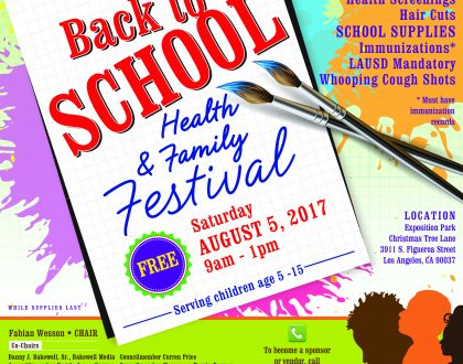 19th Annual: Back to School Health & Family Festival