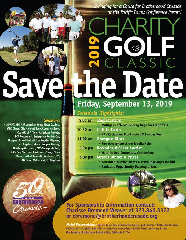 Upcoming Events – 2019 Charity Golf Classic – Brotherhood